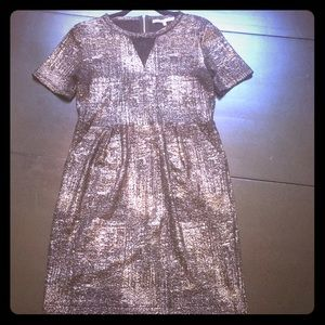 Collective Concepts Lace Detail Metallic Dress